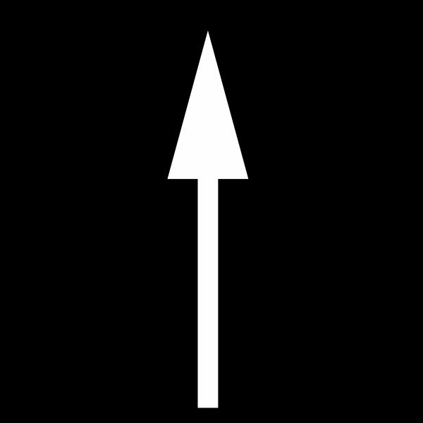Alfombra marca vial con flecha selección carril (frente) Educación Via