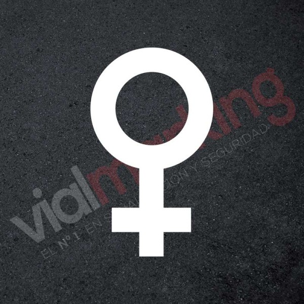 Plantilla para pintar reserva parking exclusivo para mujeres