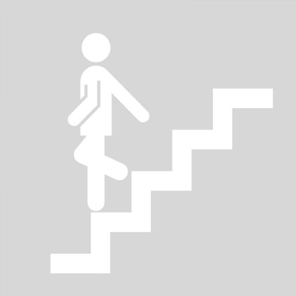 Plantilla pintar señal de escalera de emergecia bajar