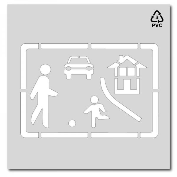 Plantilla para pintar señalización Calle Residencia - Señal S-28
