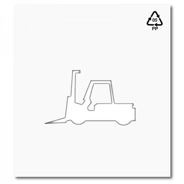 Plantilla pintar señal prohibido el paso a carretillas