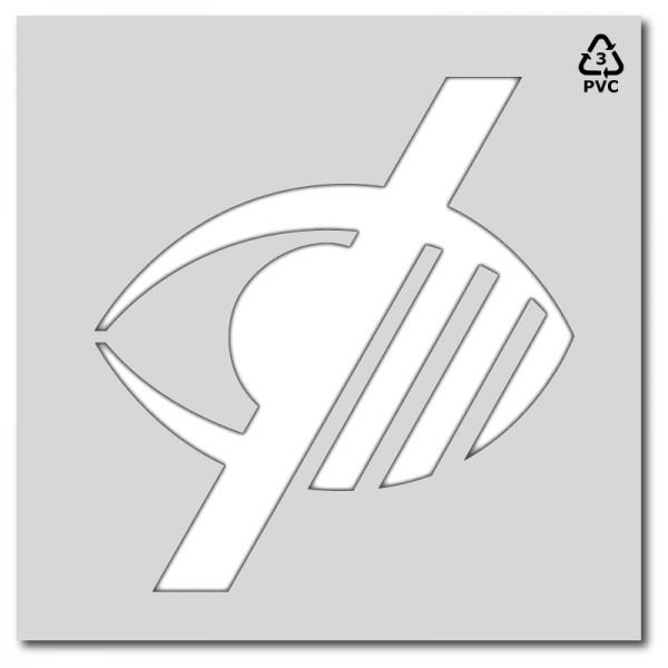 Plantilla pintar señal accesibilidad invidentes