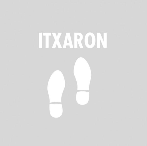 """Plantilla pintar señal """"itxaron"""" con pictograma pisada"""