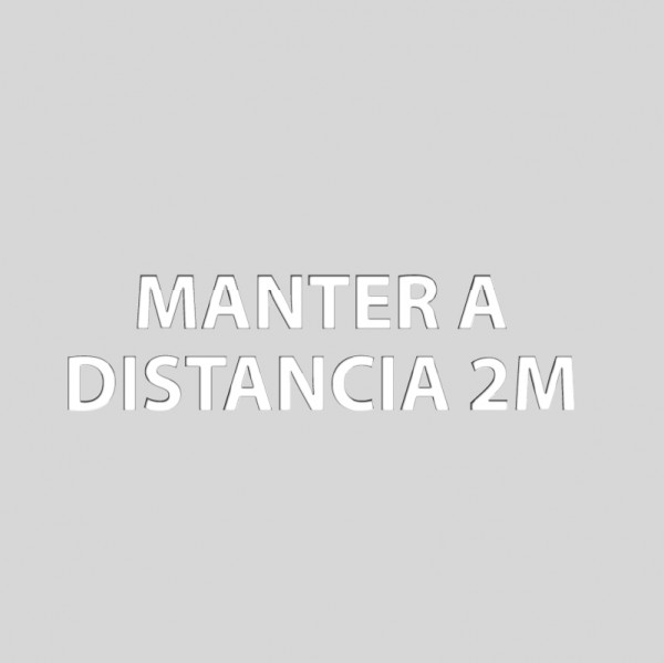 Manter a distancia 2m<