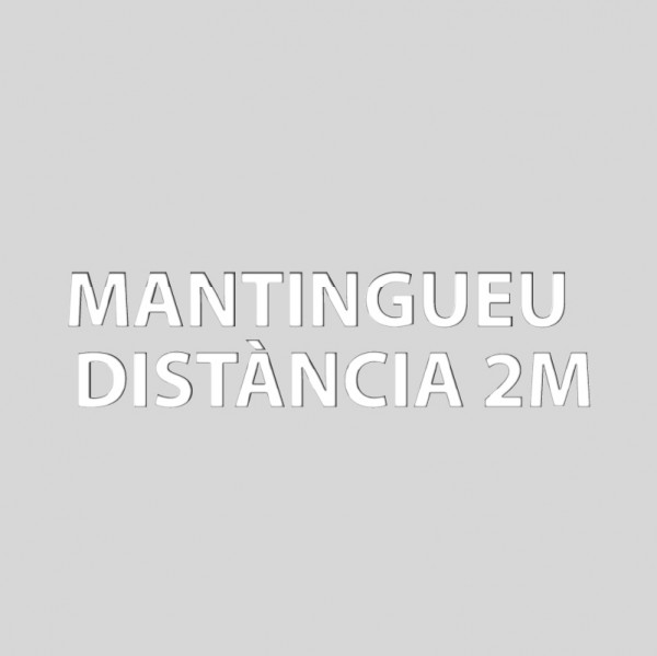 Mantingueu distància 2m