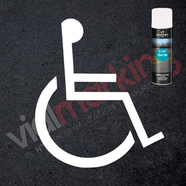 Kit para pintar señal reserva espacio discapacitados / minusválidos y spray