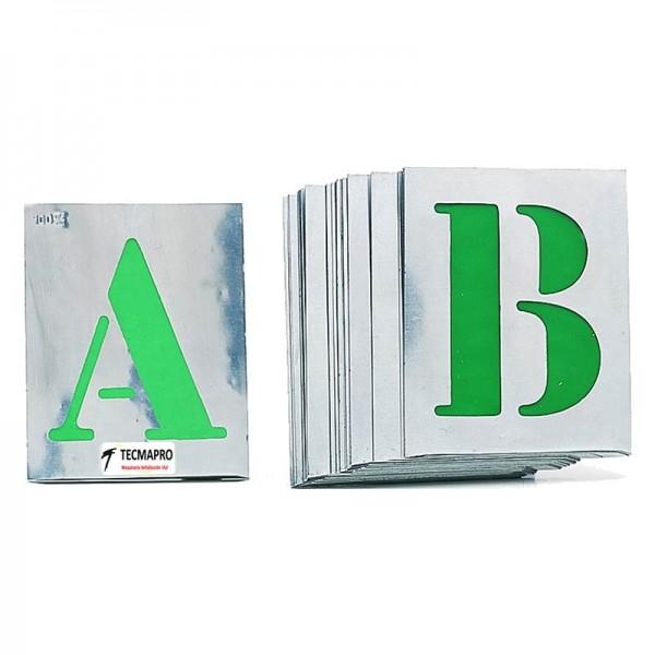 """Pack 26 Plantillas metálicas Letras """"A-Z"""