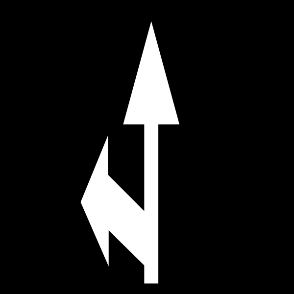 Alfombra marca vial flecha selección carril frente-izquierda Educación vial