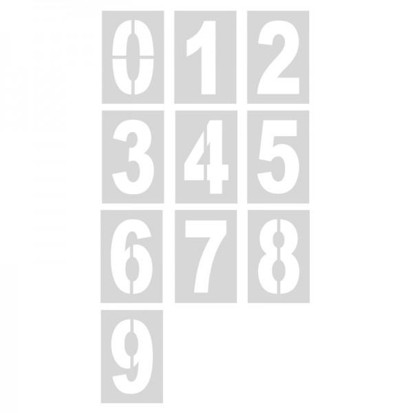 Pack 10 plantillas números 70 cm para pintar en pared y suelos