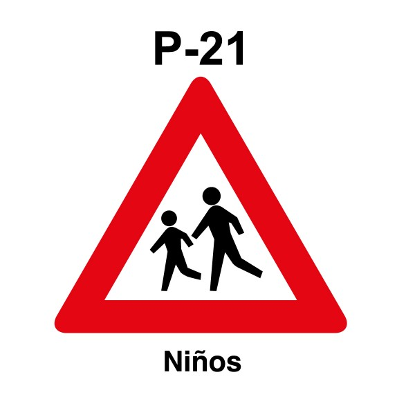 Señal de circulación P-21 Peligro Niños