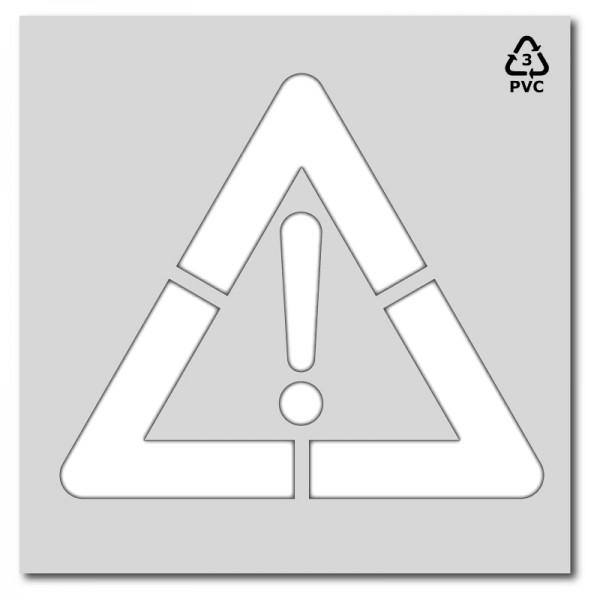 Plantilla pintar señal advertencia peligro P50