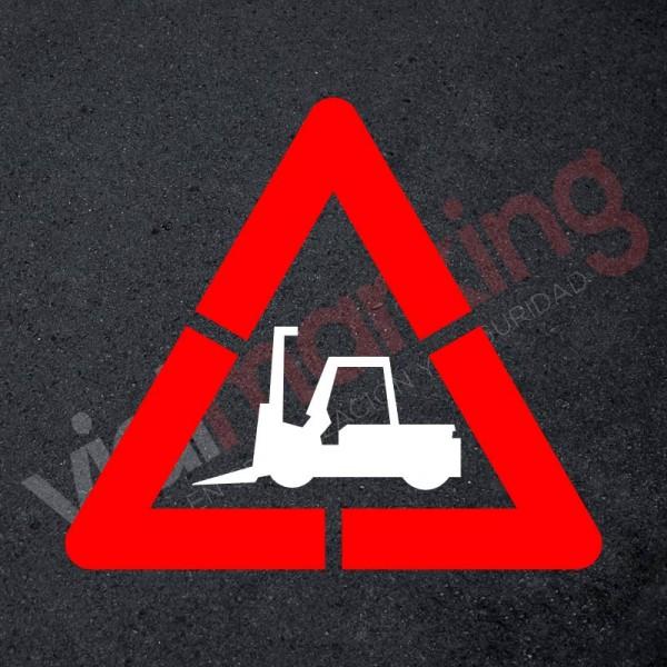 Pack Plantilla pintar señal advertencia peligro paso de carretillas (2 piezas) XL