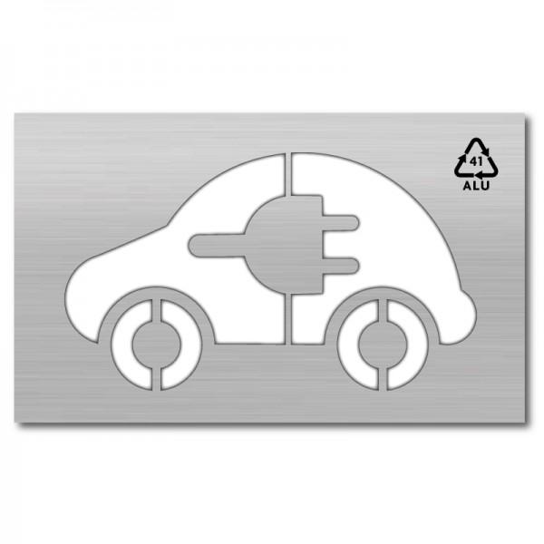 Plantilla plaza coche eléctrico