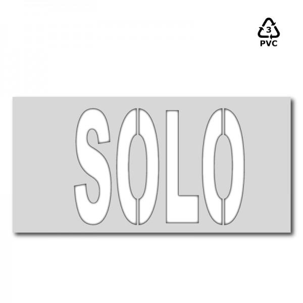 Plantilla pintar señal SOLO XXL