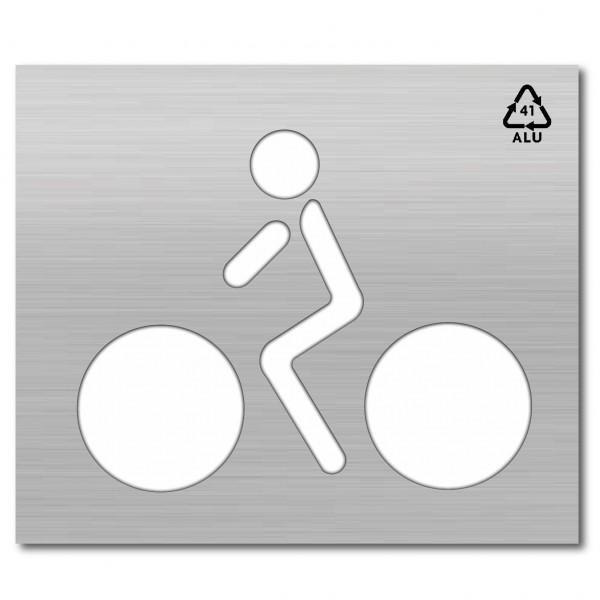 Plantilla pintar y marcar símbolo de bicicleta con ciclista