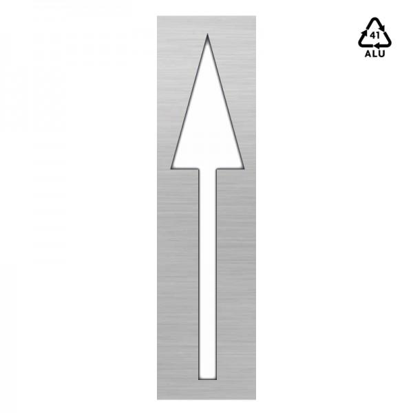 Plantilla aluminio pintar flecha direccional