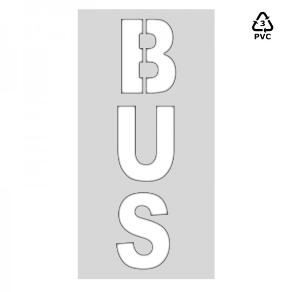 Plantilla pintar señal BUS (una pieza)-75x150 cm-Horizontal-Polipropileno