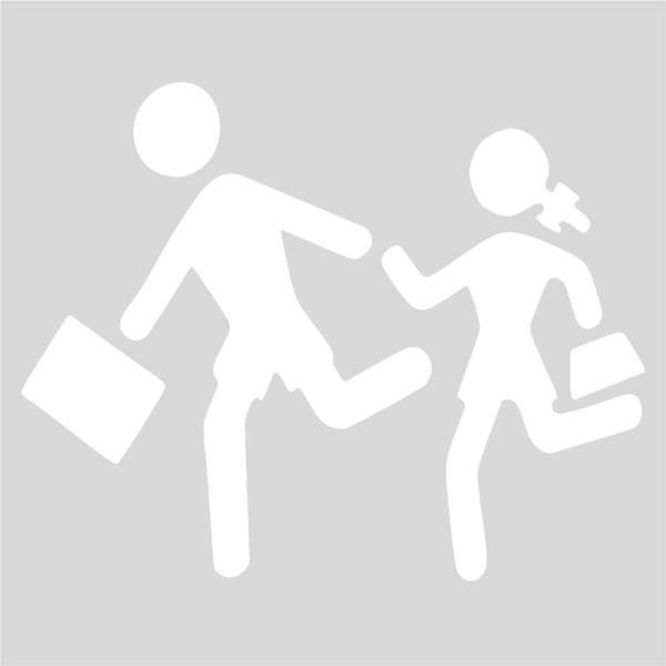 Plantilla niños cruzando