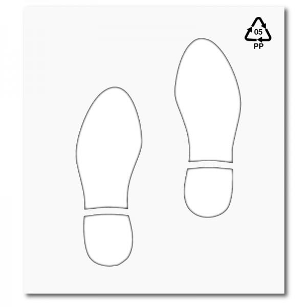 Plantilla huellas pasos de zapatos polipropileno pvc - Plantilla para pintar pared ...