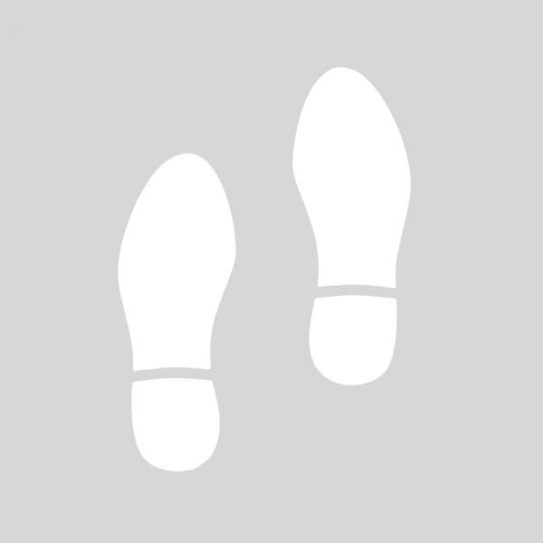 Plantilla huellas pasos de zapatos