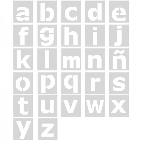 Plantilla pintar señal letras abecedario