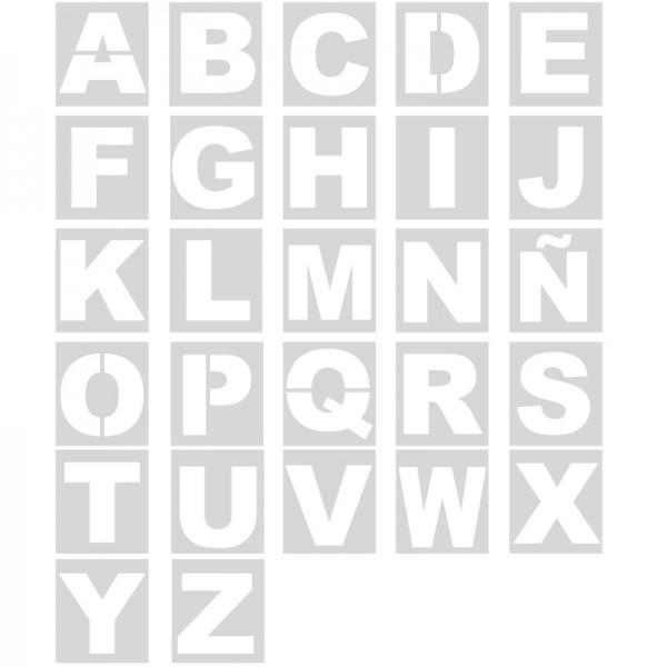 Plantillas pintar letras abecedario polipropileno metal - Plantilla para pintar pared ...