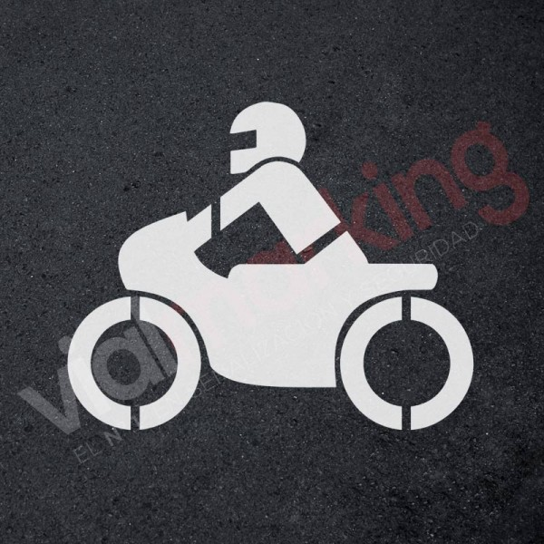 Plantilla signo moto