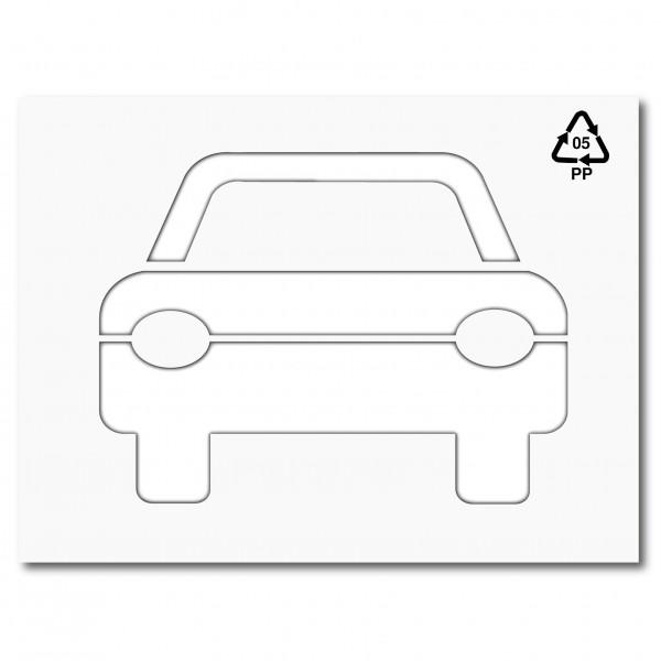 Plantilla para pintar y marcar simbolo coche de frente - Empapelar coche para pintar ...