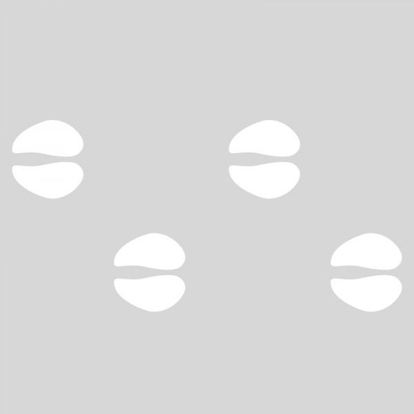 Plantilla pintar señal huellas de cebra camino escolar (Default)