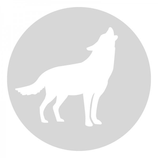 Plantilla pintar señal lobo camino escolar  Ø 60