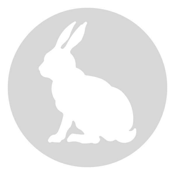 Plantilla pintar señal conejo camino escolar  Ø 80