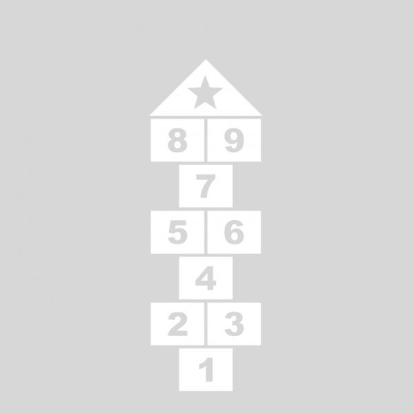 Plantilla pintar juego tradicional RAYUELA 1 ó 4 aspas Números-estrella
