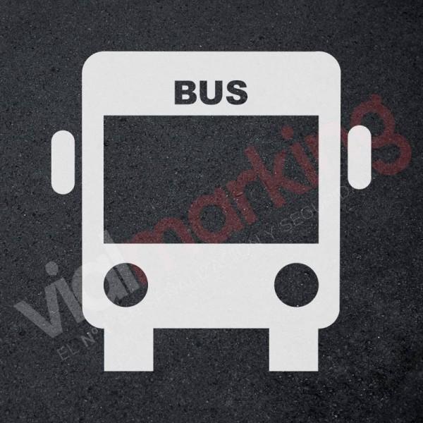 Plantilla pintar señal carril BUS