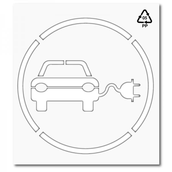 Plantilla punto carga vehículo eléctrico
