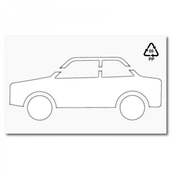 Plantilla para pintar signo de coche (lateral)