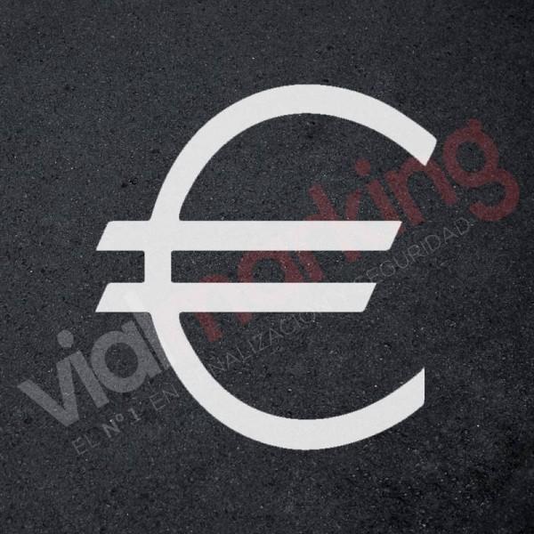 Plantilla para pintar signo EURO (€) en suelo o paredes