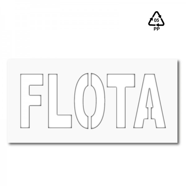 Plantilla pintar señal FLOTA M