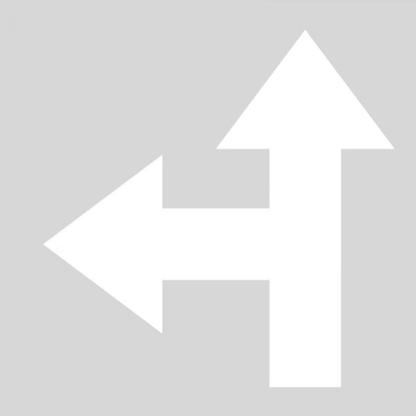 Plantilla flecha direccional frente izquierda polipropileno, pvc ...
