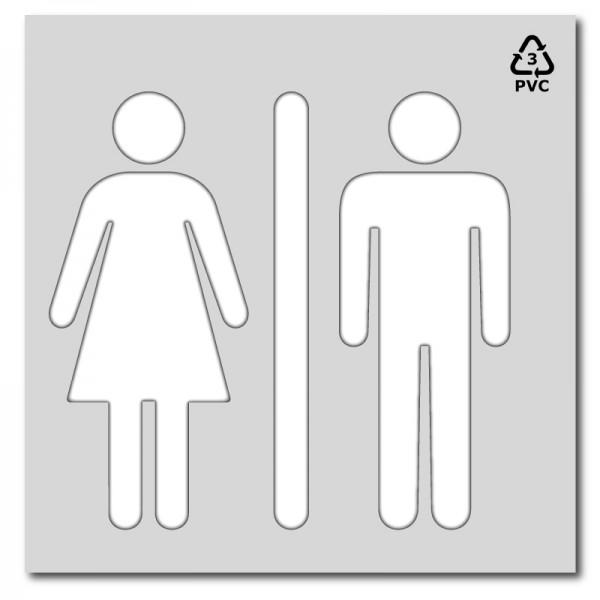 Plantilla para pintar señal silueta de hombre-mujer