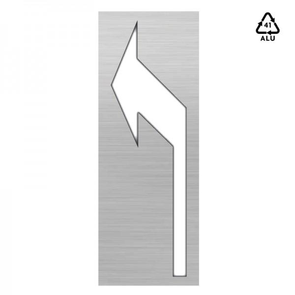 Plantilla pintar señal flecha selección de carril izquierda 75x155-Aluminio