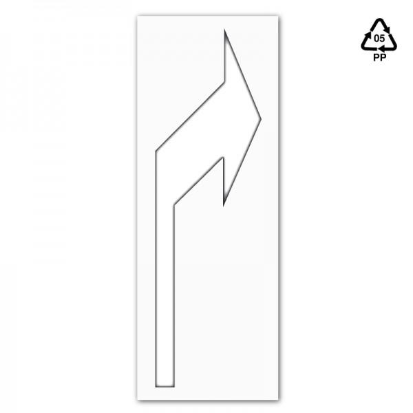 Plantilla pintar señal flecha direccional derecha 75x155