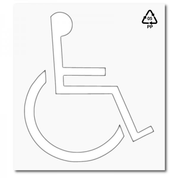 Plantilla pintar señal discapacitados polipropileno, pvc, aluminio o ...