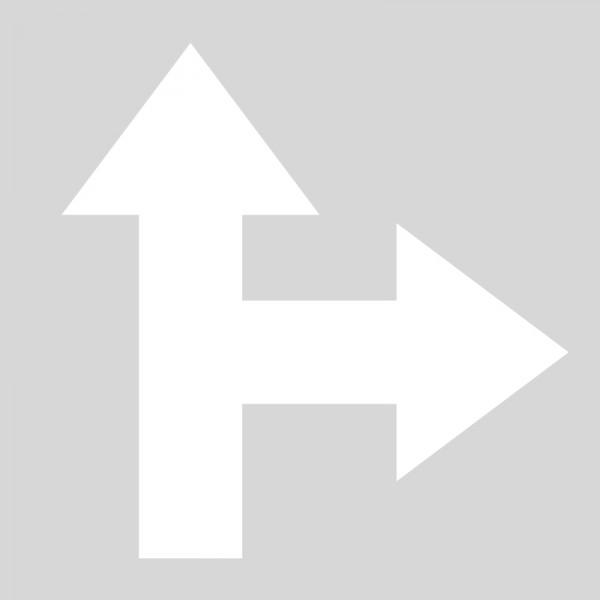 Plantilla flecha direccional frente derecha polipropileno, pvc ...