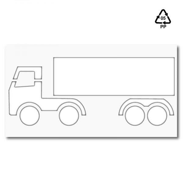 Plantilla para pintar signo camión trailer