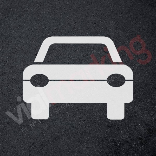 Plantilla para pintar símbolo coche (frontal)