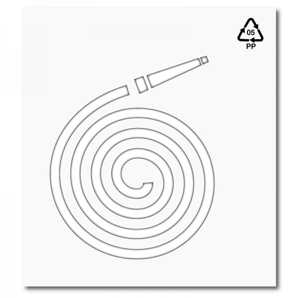 Plantilla pintar señal manguera de incendios