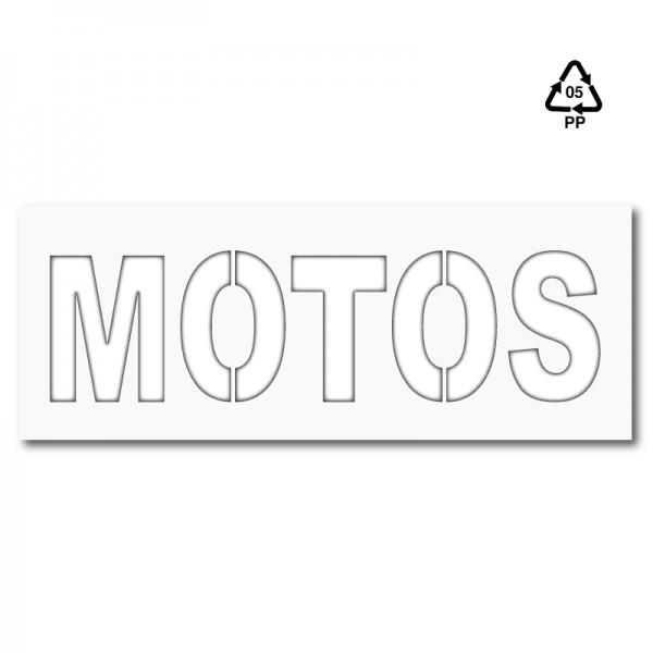Plantilla carrill parking MOTOS (una pieza)