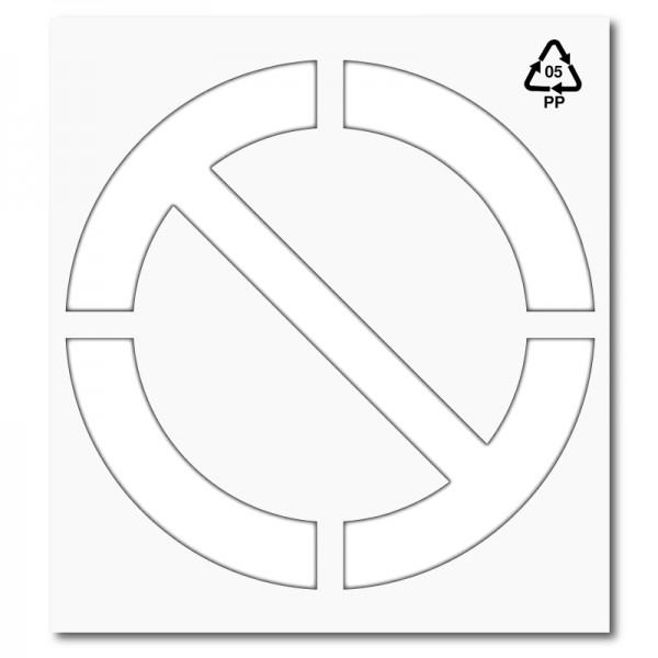 Plantilla pintar señal prohibido personalizable L