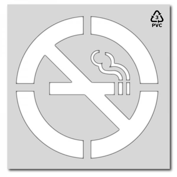 Plantilla pintar señal prohibido fumar