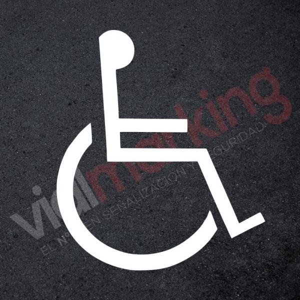 Plantilla reserva aparcamiento minusválidos